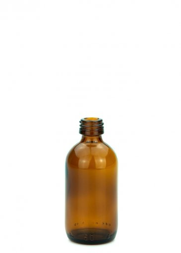 Glasflasche 50 ml braun Gewinde PFP18 ohne Verschluss