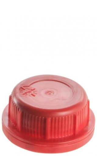 Screw closure for jerry cans DIN 45 red