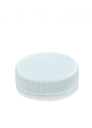 Tappo a vite 38 per bottiglie in plastica PET bianco