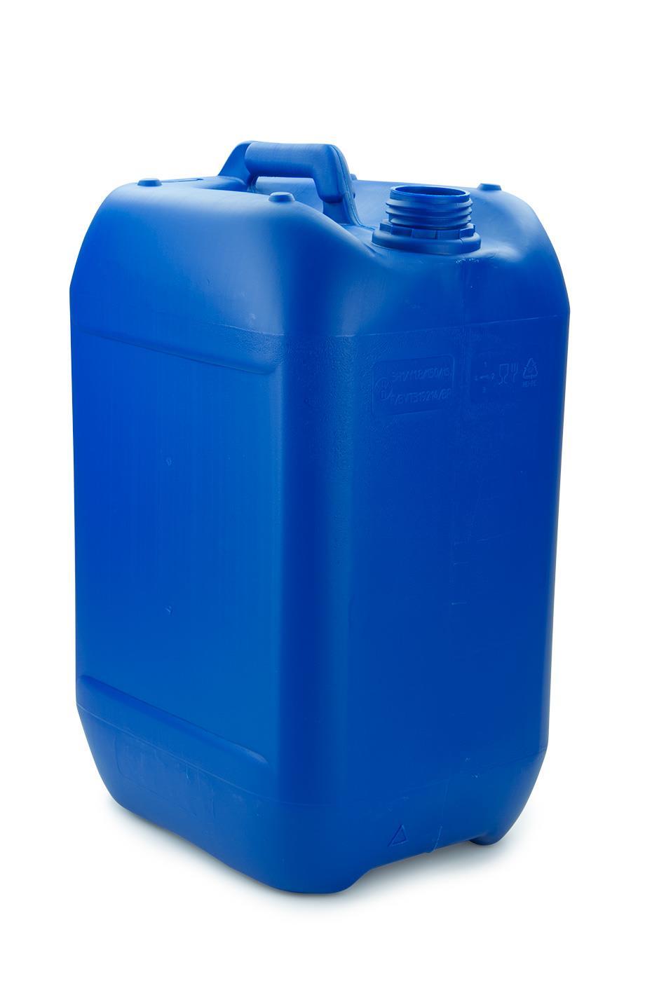 kunststoff kanister blau 25 liter un stapelbar ohne. Black Bedroom Furniture Sets. Home Design Ideas