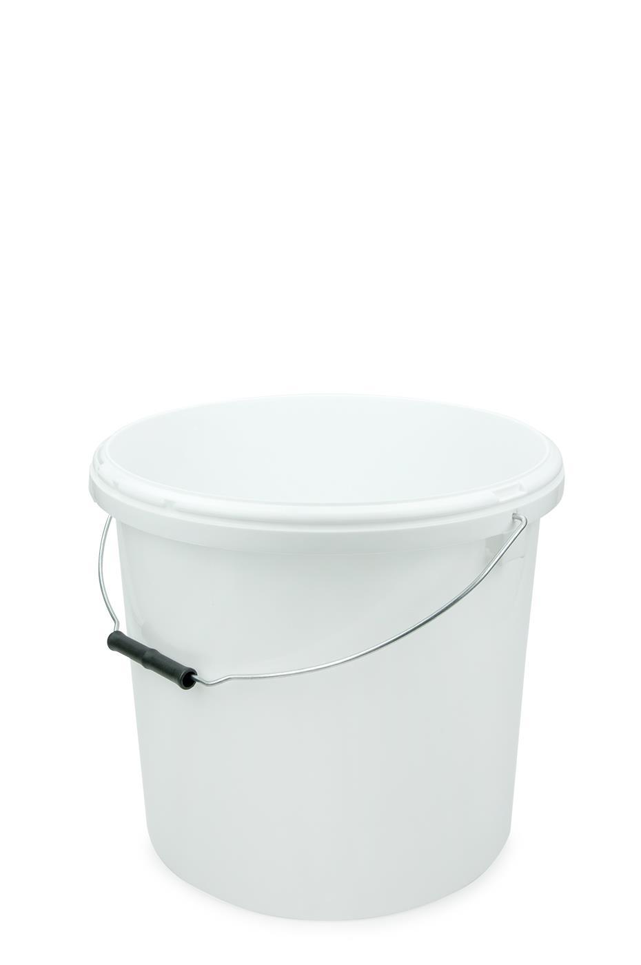 kunststoff eimer 20 liter weiss mit deckel weiss rund. Black Bedroom Furniture Sets. Home Design Ideas