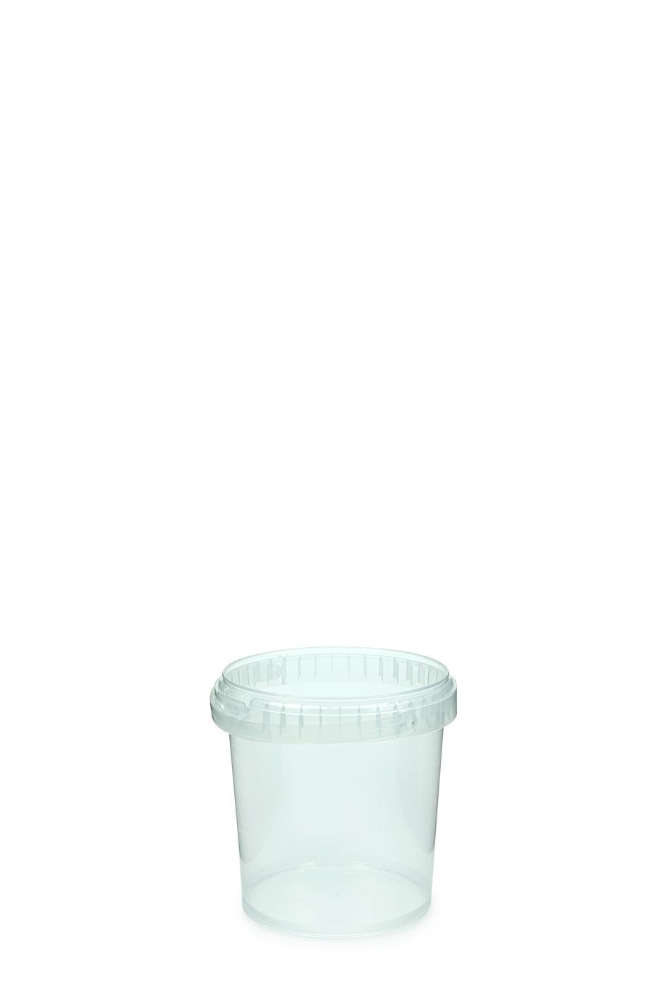 kunststoff eimer mit deckel rund kunststoffb gel 1 liter klar palette. Black Bedroom Furniture Sets. Home Design Ideas