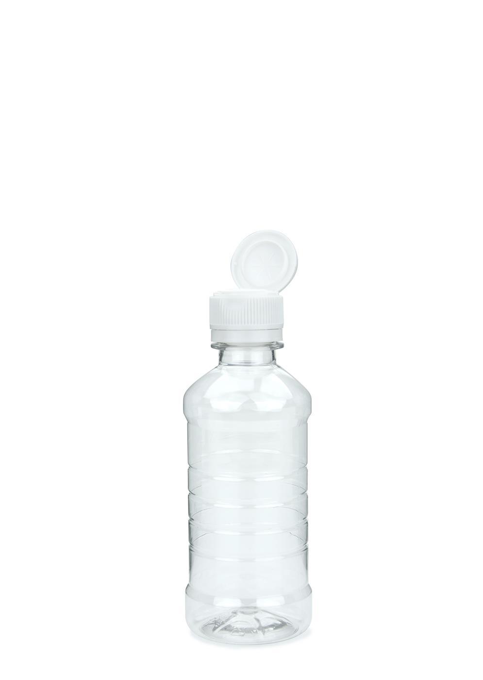 pet flasche f r speise l klar 250 ml mit klappverschluss mit ausgie er weiss. Black Bedroom Furniture Sets. Home Design Ideas