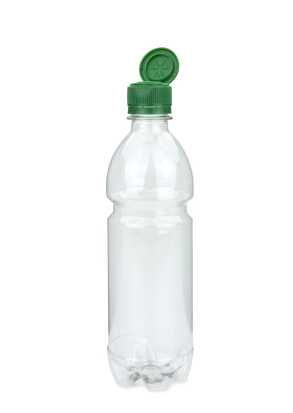 pet flasche f r speise l klar 500 ml mit klappverschluss mit ausgie er gr n. Black Bedroom Furniture Sets. Home Design Ideas