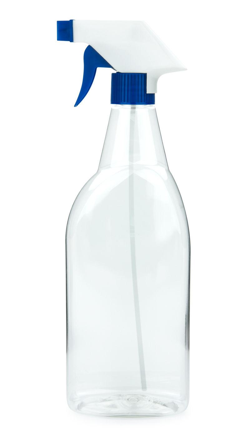 pet spr hflasche 750 ml klar mit trigger spr hpistole standard wei blau. Black Bedroom Furniture Sets. Home Design Ideas