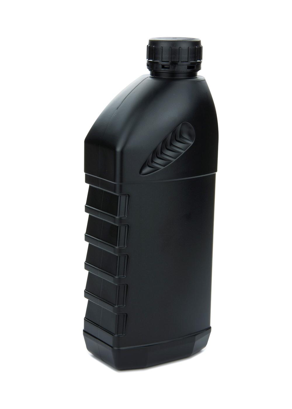 pe kunststoff flasche f r motor l 1 liter schwarz mit. Black Bedroom Furniture Sets. Home Design Ideas