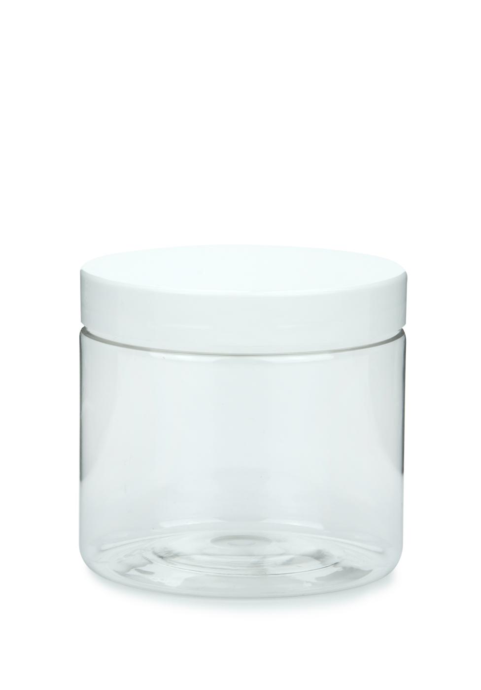 pet tiegel cylindrical klar 200 ml mit kunststoff schraubdeckel wei 70 mm. Black Bedroom Furniture Sets. Home Design Ideas